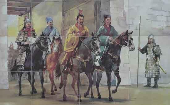 Die Malereien erzählen die Geschichte Südkoreas.