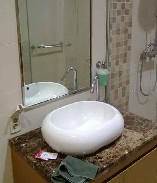 Frisch machen kann man sich in seinem eigenen Bad.
