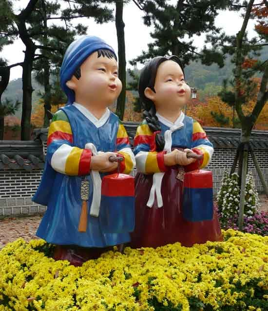 Obwohl schon November, blüht in Seoul noch alles.