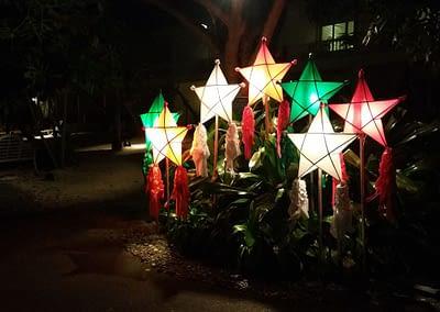 Weihnachtsschmuck im Plantation Bay Cebu