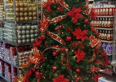 Weihnachtsschmuck in Dumaguete.